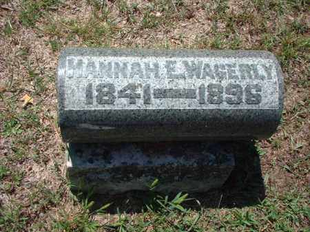 WAGERLY, HANNAH E. - Meigs County, Ohio | HANNAH E. WAGERLY - Ohio Gravestone Photos