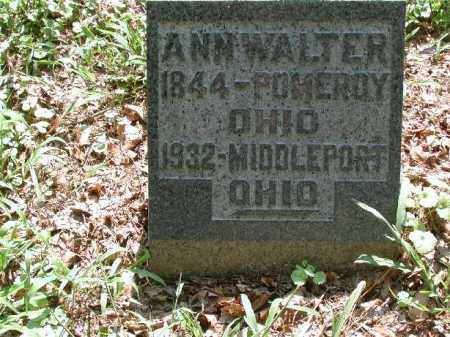 WALTER, ANN - Meigs County, Ohio | ANN WALTER - Ohio Gravestone Photos