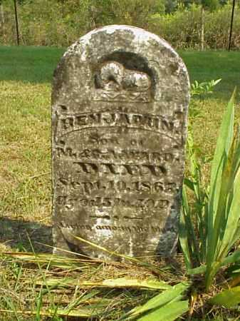 WARD, BENJAMIN - Meigs County, Ohio | BENJAMIN WARD - Ohio Gravestone Photos