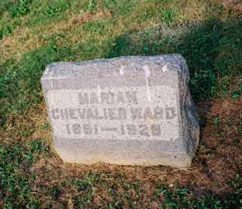 CHEVALIER WARD, MARIAN - Meigs County, Ohio | MARIAN CHEVALIER WARD - Ohio Gravestone Photos