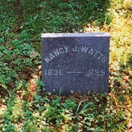 WATTS, NANCY J. - Meigs County, Ohio | NANCY J. WATTS - Ohio Gravestone Photos