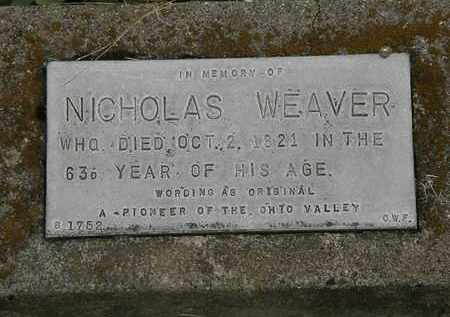 WEAVER, NICHOLAS - Meigs County, Ohio | NICHOLAS WEAVER - Ohio Gravestone Photos