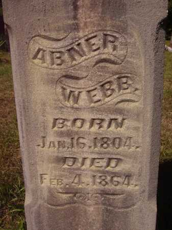WEBB, ABNER - CLOSE VIEW - Meigs County, Ohio | ABNER - CLOSE VIEW WEBB - Ohio Gravestone Photos