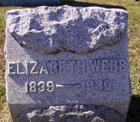WEBB, ELIZABETH - Meigs County, Ohio | ELIZABETH WEBB - Ohio Gravestone Photos