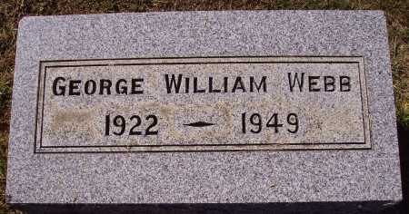 WEBB, GEORGE WILLIAM - Meigs County, Ohio | GEORGE WILLIAM WEBB - Ohio Gravestone Photos