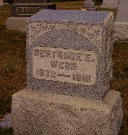 WEBB, GERTRUDE E. - Meigs County, Ohio | GERTRUDE E. WEBB - Ohio Gravestone Photos