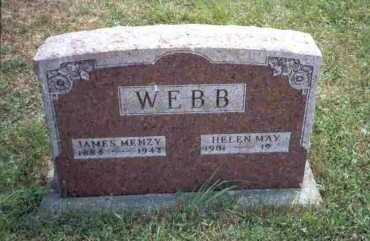 WEBB, JAMES MENZY - Meigs County, Ohio | JAMES MENZY WEBB - Ohio Gravestone Photos