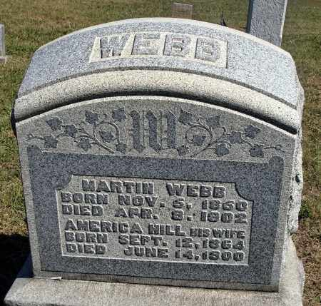 HILL WEBB, AMERICA - Meigs County, Ohio | AMERICA HILL WEBB - Ohio Gravestone Photos