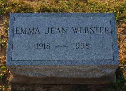 WEBSTER, EMMA JEAN - Meigs County, Ohio | EMMA JEAN WEBSTER - Ohio Gravestone Photos