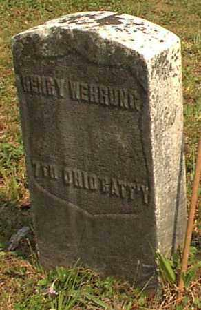 WEHRUNG, HENRY - Meigs County, Ohio | HENRY WEHRUNG - Ohio Gravestone Photos