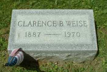 WEISE, CLARENCE B. - Meigs County, Ohio | CLARENCE B. WEISE - Ohio Gravestone Photos