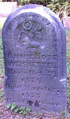WEISKETTEL, ANNIE ROSE - Meigs County, Ohio | ANNIE ROSE WEISKETTEL - Ohio Gravestone Photos