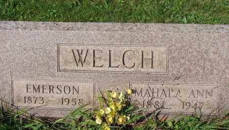 WELCH, EMERSON - Meigs County, Ohio | EMERSON WELCH - Ohio Gravestone Photos