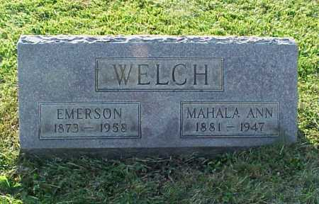 WELCH, MAHALA ANN - Meigs County, Ohio | MAHALA ANN WELCH - Ohio Gravestone Photos