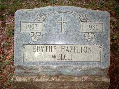 HAZELTON WELCH, EDYTHE - Meigs County, Ohio | EDYTHE HAZELTON WELCH - Ohio Gravestone Photos