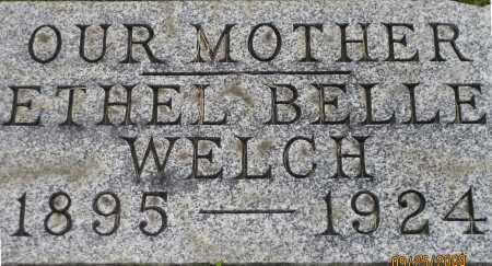 WELCH, ETHEL - Meigs County, Ohio | ETHEL WELCH - Ohio Gravestone Photos