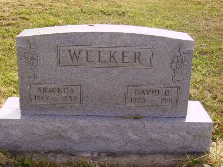 WELKER, DAVID OSBORN - Meigs County, Ohio | DAVID OSBORN WELKER - Ohio Gravestone Photos
