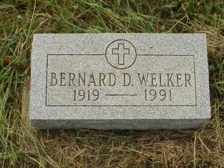 WELKER, BERNARD D. - Meigs County, Ohio | BERNARD D. WELKER - Ohio Gravestone Photos