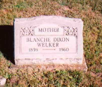 DIXON WELKER, BLANCH - Meigs County, Ohio | BLANCH DIXON WELKER - Ohio Gravestone Photos