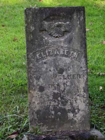 WELKER, ELIZABETH - Meigs County, Ohio | ELIZABETH WELKER - Ohio Gravestone Photos