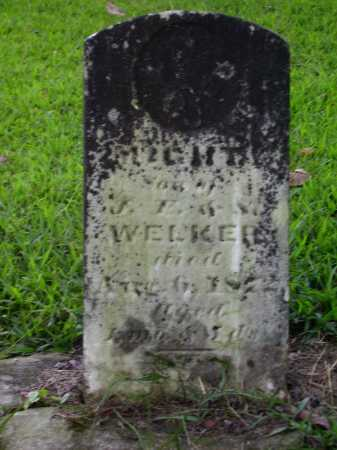 WELKER, MIGHT - Meigs County, Ohio | MIGHT WELKER - Ohio Gravestone Photos