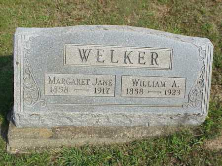 WELKER, MARGARET JANE - Meigs County, Ohio | MARGARET JANE WELKER - Ohio Gravestone Photos