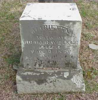 WELKER, MARIETTA - Meigs County, Ohio | MARIETTA WELKER - Ohio Gravestone Photos