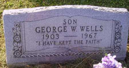 WELLS, GEORGE W. - Meigs County, Ohio | GEORGE W. WELLS - Ohio Gravestone Photos