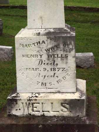 CARTER WELLS, MARTHA - Meigs County, Ohio | MARTHA CARTER WELLS - Ohio Gravestone Photos