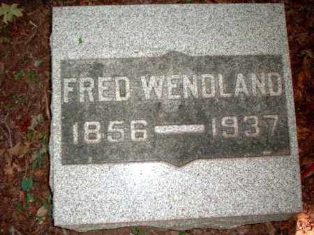 WENDLAND, FRED - Meigs County, Ohio | FRED WENDLAND - Ohio Gravestone Photos