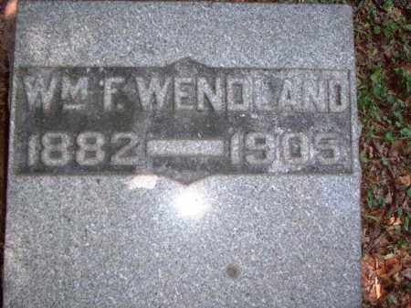 WENDLAND, WILLIAM F. - Meigs County, Ohio | WILLIAM F. WENDLAND - Ohio Gravestone Photos