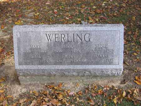 WERLING, JACOB - Meigs County, Ohio | JACOB WERLING - Ohio Gravestone Photos