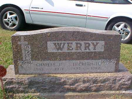 WERRY, LUCRETIA H. - Meigs County, Ohio | LUCRETIA H. WERRY - Ohio Gravestone Photos