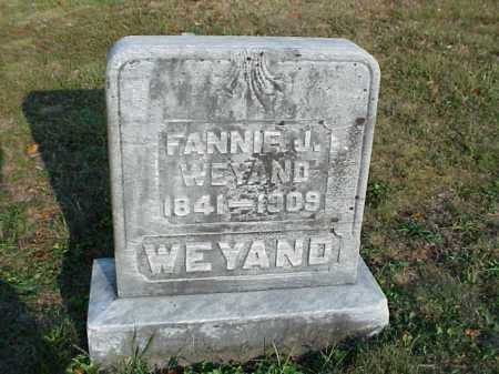 WEYAND, FANNIE J. - Meigs County, Ohio | FANNIE J. WEYAND - Ohio Gravestone Photos