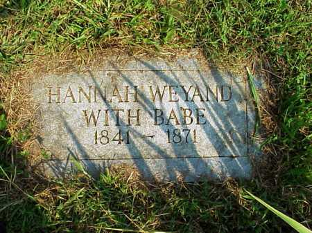 WEYAND, BABY - Meigs County, Ohio | BABY WEYAND - Ohio Gravestone Photos