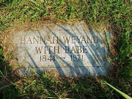 WEYAND, HANNAH - Meigs County, Ohio | HANNAH WEYAND - Ohio Gravestone Photos