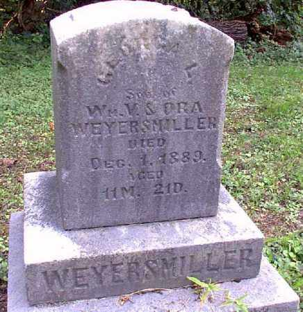 WEYERSMILLER, GEORGA L. - Meigs County, Ohio | GEORGA L. WEYERSMILLER - Ohio Gravestone Photos
