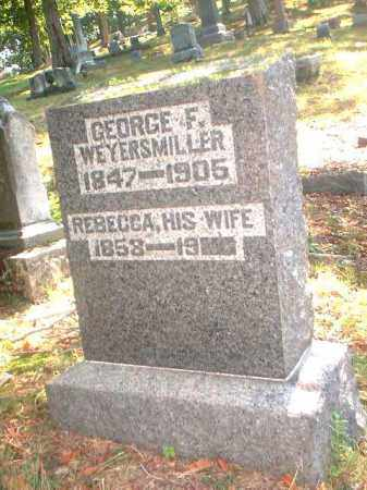 WEYERSMILLER, GEORGE F. - Meigs County, Ohio | GEORGE F. WEYERSMILLER - Ohio Gravestone Photos