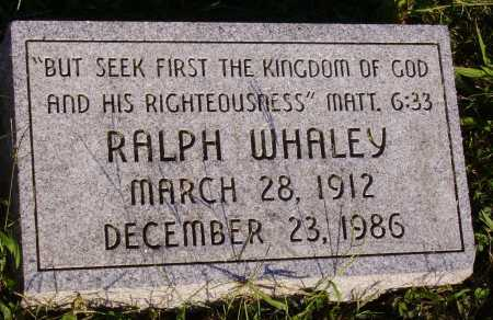 WHALEY, RALPH - Meigs County, Ohio | RALPH WHALEY - Ohio Gravestone Photos