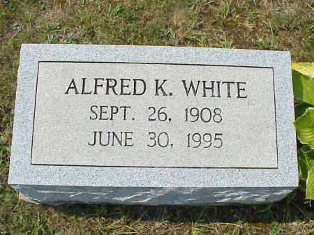 WHITE, ALFRED K. - Meigs County, Ohio | ALFRED K. WHITE - Ohio Gravestone Photos
