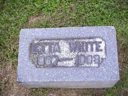 WHITE, ETTA - Meigs County, Ohio | ETTA WHITE - Ohio Gravestone Photos