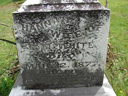 WHITE, HANNAH - Meigs County, Ohio | HANNAH WHITE - Ohio Gravestone Photos
