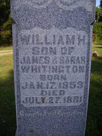 WHITINGTON, WILLIAM H - Meigs County, Ohio | WILLIAM H WHITINGTON - Ohio Gravestone Photos