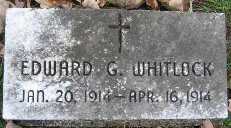 WHITLOCK, EDWARD G - Meigs County, Ohio | EDWARD G WHITLOCK - Ohio Gravestone Photos