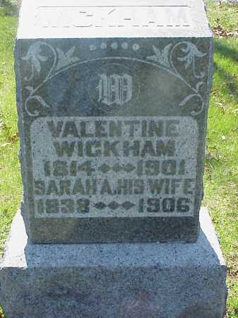 WICKHAM, SARAH A. - Meigs County, Ohio | SARAH A. WICKHAM - Ohio Gravestone Photos