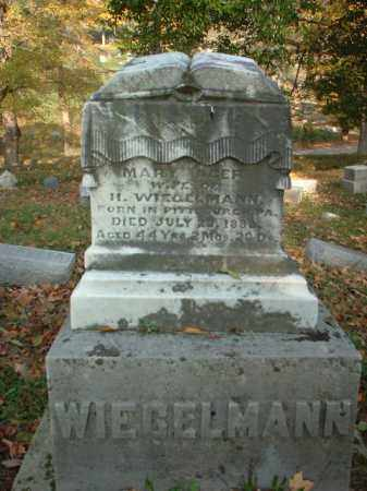 WIEGELMANN, MARY - Meigs County, Ohio | MARY WIEGELMANN - Ohio Gravestone Photos