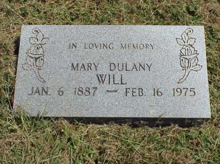 WILL, MARY DULANY - Meigs County, Ohio | MARY DULANY WILL - Ohio Gravestone Photos