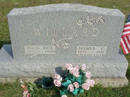 RICE WILLARD, BELVA - Meigs County, Ohio | BELVA RICE WILLARD - Ohio Gravestone Photos