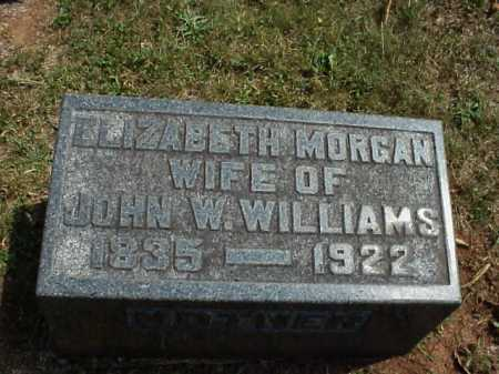MORGAN WILLIAMS, ELIZABETH - Meigs County, Ohio | ELIZABETH MORGAN WILLIAMS - Ohio Gravestone Photos