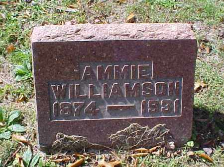 WILLIAMSON, AMMIE - Meigs County, Ohio | AMMIE WILLIAMSON - Ohio Gravestone Photos